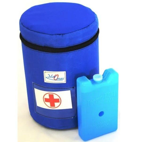 Термоконтейнер с хладагентом для транспортировки вакцин.